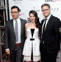 Jamie Travis, Lauren Anne Miller and Seth Rogen New York premiere of