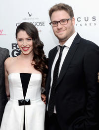 Lauren Anne Miller and Seth Rogen New York premiere of