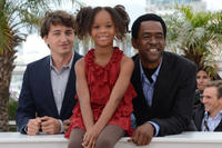 Director Benh Zeitlin, Quvenzhane Wallis and Dwight Henry at the photocall of