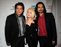 David Thornton, Cyndi Lauper and director Darko Lungulov at the premiere of