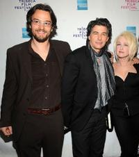 Producer George Lekovic, David Thornton and Cyndi Lauper at the premiere of