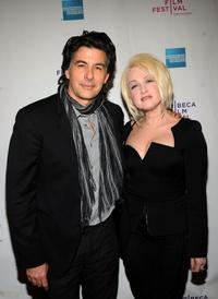David Thornton and Cyndi Lauper at the premiere of