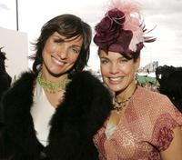 Sigrid Thornton and Catherine McClement at the Myer marquee attends The Melbourne Cup.