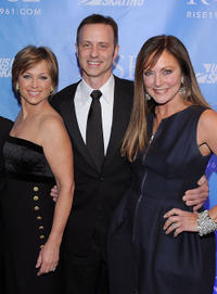Dorothy Hamill, Brian Boitano and Peggy Fleming at the New York premiere of