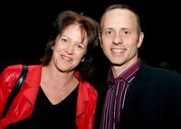 Christine Brennan and Brian Boitano at the US Figure Skating Championships.