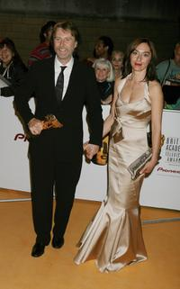 David Threlfall and Guest at the British Academy Television Awards.