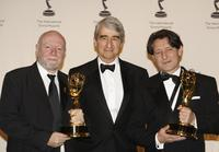 Ken Horn, Sam Waterson and Pierre Bokma at the 35th Annual International Emmy Awards.