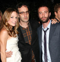 Tara Spencer-Nairn, filmmaker Don McKellar and Jacob Tierney at the Alliance party during the 2010 Toronto Film Festival in Canada.