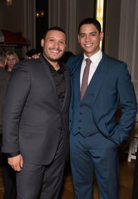 Joe Minoso and Charlie Barnett at the Chicago premiere of