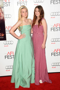 Elle Fanning and Alice Englert at the premiere of