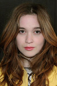 Alice Englert at Paris Fashion Week.