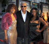 Beverly Todd, Morgan Freeman and Serena Reeder at the premiere of