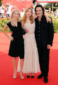 Director Jessica Hausner, Lea Seydoux and Bruno Todeschini at the 66th Venice Film Festival.