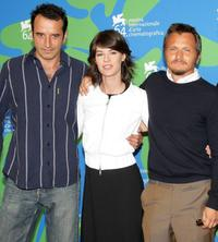 Bruno Todeschini, Irene Jacob and director Paolo Franchi at the photocall of