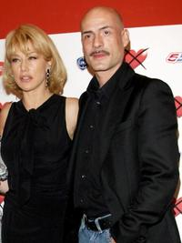Nancy Brilli and Gian Marco Tognazzi at the photocall of