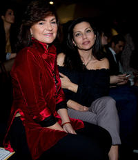 Carmen Calvo and Fabiola Toledo at the Hannibal Laguna fashion show during the Cibeles Madrid Fashion Week A/W 2011 in Spain.
