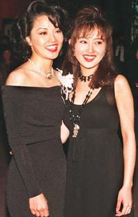 Youki Kudoh and Tamlyn Tomita at the premiere of