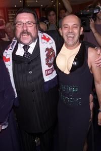 Ricky Tomlinson and Keith Allen at the premiere party of