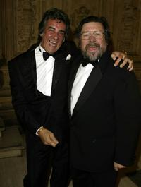 David Dickinson and Ricky Tomlinson at the National TV Awards party.