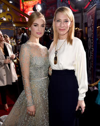 Lily James and Cate Blanchett at the California premiere of