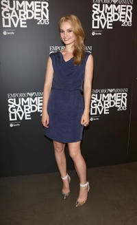 Lily James at the Emporio Armani's Summer Garden Live 2013 in England.