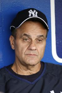 Joe Torre at the match between New York Yankees vs Kansas City Royals.