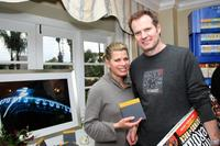Beth Toussaint and her husband Jack Coleman at the Luxury Lounge in honor of the 2008 SAG Awards featuring The Sports Club/LA.