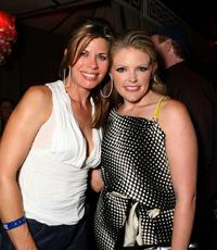 Beth Toussaint and singer Natalie Maines at the after party of the premiere of