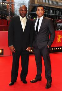 Alain Bastien and Mizinga Mwinga at the Germany premiere of