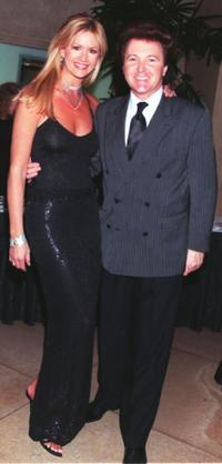 Nancy O'Dell and Fred Travalena at the charity event for the Cardiac Arrhythmias Research and Education Foundation.