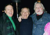 Fred Travalena, Jack Carter and Marty Ingels at the opening night of Steve Solomon's