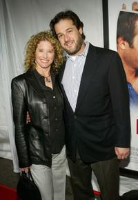 Nancy Travis and guest at the New Line Cinema's Premiere of