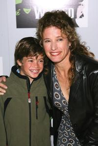 Nancy Travis and son Ben at the opening night of the new production of