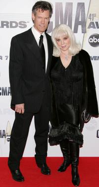 Randy Travis and Elizabeth Travis at the 41st Annual CMA Awards.