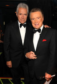 Alex Trebek and Regis Philbin at the 37th Annual Daytime Entertainment Emmy Awards in Las Vegas.