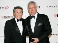 Johnny Gilbert and Alex Trebek at the Canada's Walk Of Fame Gala.