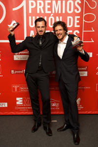 Axier Etxeandia and Daniel Grao at the 21st Union de Actores Awards 2012 in Spain.