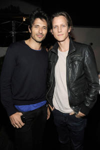 Andres Velencoso and Magnus Berger at the private cocktail and dinner party in Florida.