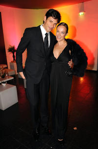 Andres Velencoso and Sonja Kirchberger at the after party of the 2008 GQ Men of the Year Award in Germany.