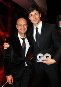 Peyman Amin and Andres Velencoso at the after party of the 2008 GQ Men of the Year Award in Germany.