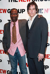 Russell G. Jones and Adam Trese at the party to celebrate production of