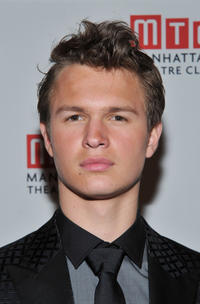 Ansel Elgort at the Off-Broadway opening night of