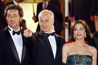 Paolo Sorrentino, Toni Servillo and Anna Bonaiuto at the screening of