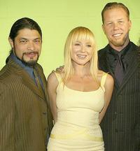 Robert Trujillo, Jewel and James Hetfield at the 21st Annual ASCAP Pop Music Awards.