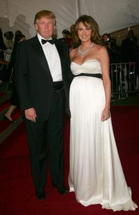 Donald Trump and Melania Trump at the Metropolitan Museum of Art Costume Institute Benefit Gala.