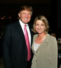Donald Trump and Karrie Webb at the LPGA celebration.