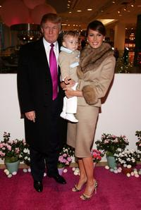 Donald Trump, Melania Trump and son Barron at the Society of Memorial Sloan-Kettering Cancer Center's 16th Annual Bunny Hop.