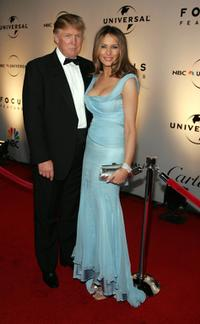 Donald Trump and wife Melania Knauss at the NBC/Universal Golden Globe after party.