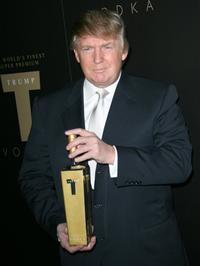 Donald Trump at the Trump Vodka launch party.