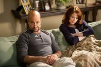 Stanley Tucci as Olive's father Dill and Emma Stone as Olive Penderghast in